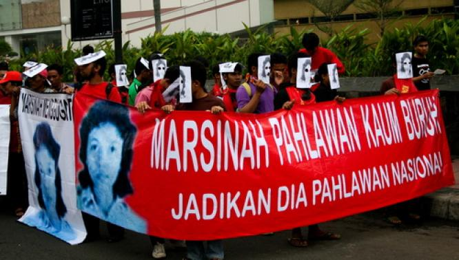 marsinah,demo buruh,buruh,may day