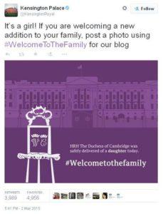 Twit dari Kensington Palace