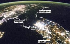 Korea Utara Dari Luar Angkasa