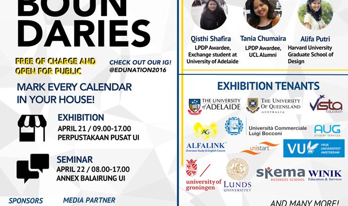 EDUNATION 2016: Event Bergengsi Seputar Kuliah di Luar Negeri