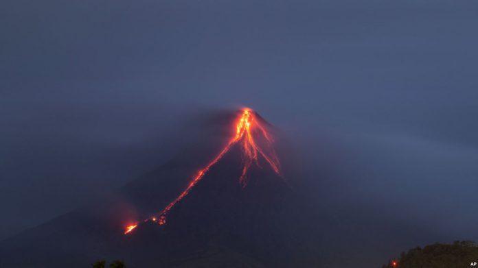 letusan gunung mayon