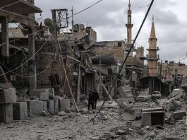 bom di Ghouta Timur