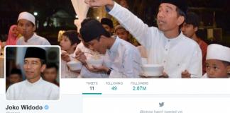 Akun Twitter Jokowi