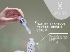 nature reaction crystal bright serum,nature reaction,serum pemutih,serum pencerah wajah