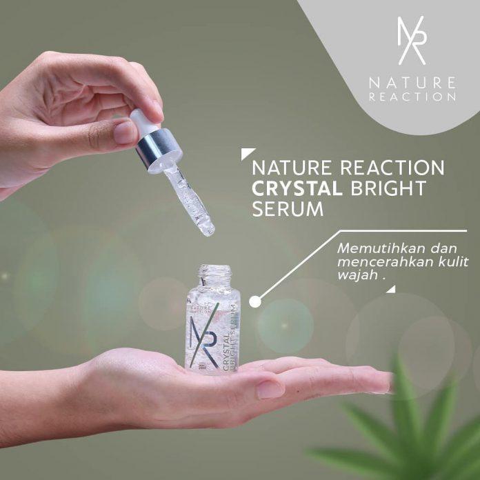 nature reaction crystal bright serum,nature reaction,serum pemutih,serum pencerah wajah